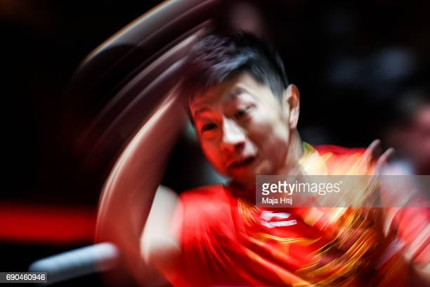 Long Ma of China competes during Men Single 1 Round at Table Tennis World Championship at Messe Duesseldorf on May 31 2017 in Dusseldorf Germany