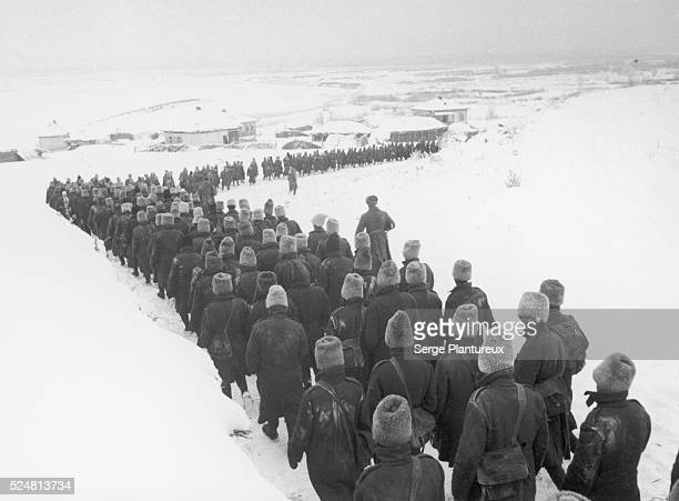 Long march of Romanian POWs from the Battle of Stalingrad