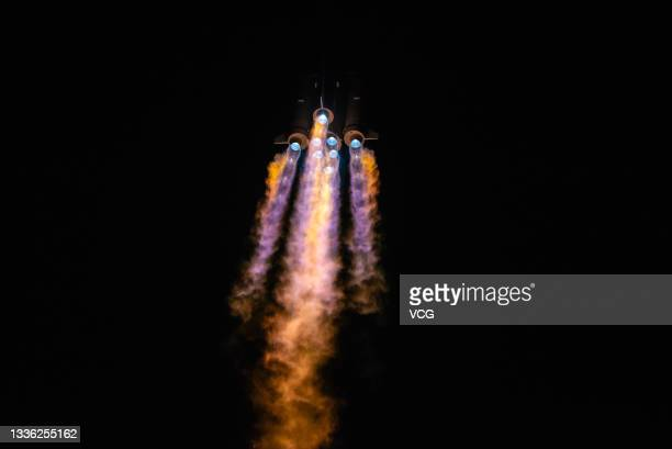 Long March-3B rocket carrying a new communication technology experiment satellite blasts off from the Xichang Satellite Launch Center on August 24,...