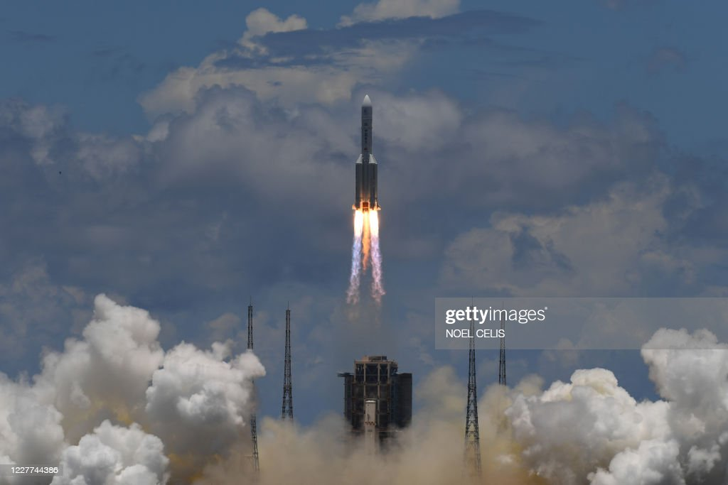 TOPSHOT-CHINA-SCIENCE-SPACE-MARS : News Photo