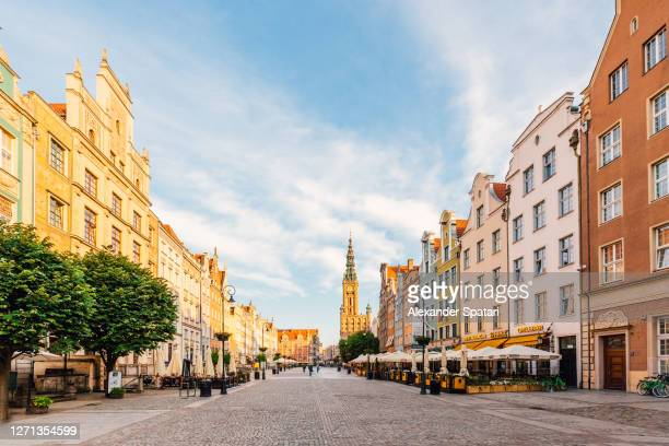 long market square in gdansk, poland - poland stock pictures, royalty-free photos & images