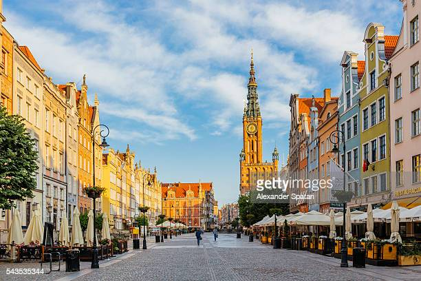 Long Market Square (Dlugi Targ) in Gdansk, Poland