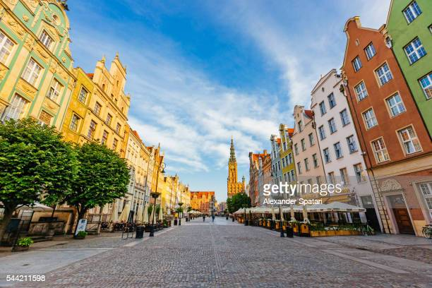 Long Market Square (Dlugi Targ) in the morning, Gdansk, Poland