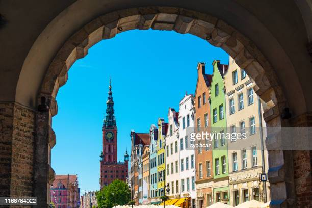 long market street of gdansk, poland - syolacan stock pictures, royalty-free photos & images