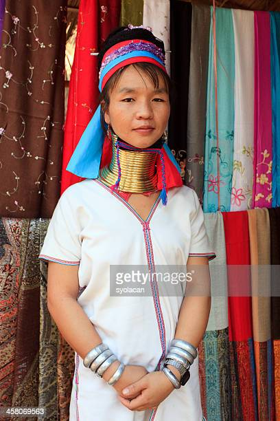 long neck karen lady - syolacan stock pictures, royalty-free photos & images