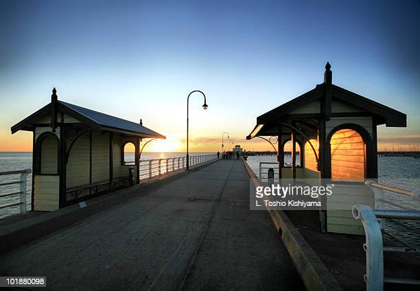 A Long Pier at Sunset