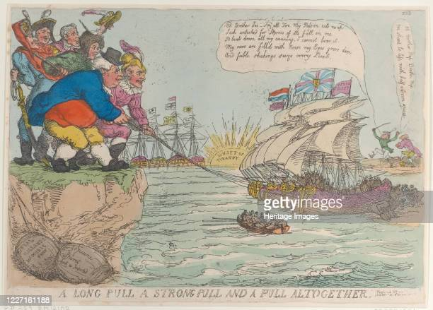 A Long Pull A Strong Pull and a Pull Altogether November 25 1813 Artist Thomas Rowlandson