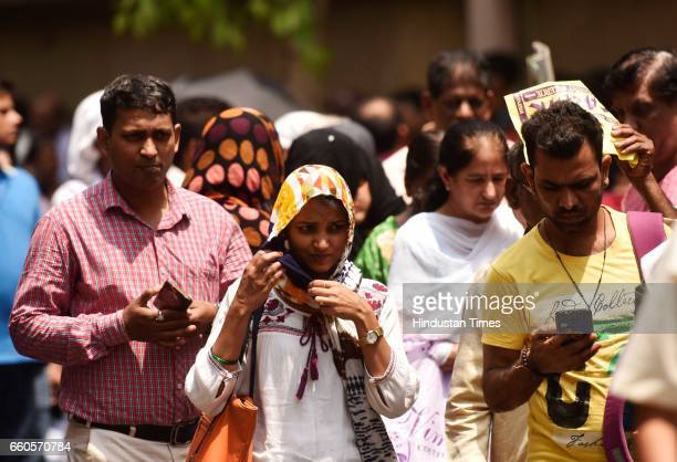Long queues of people outside RBI as there is only 3 days left to exchange the old 500 and 1000 rupee notes at Fort, on March 29, 2017 in Mumbai,...
