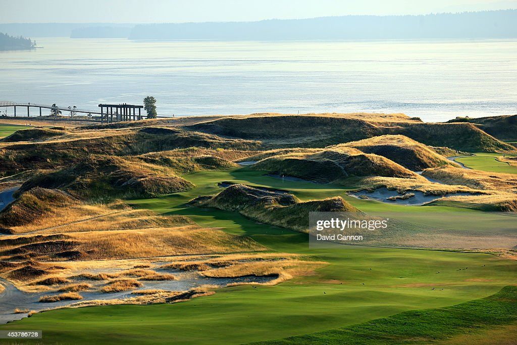 General Views of Chambers Bay Golf Course : News Photo