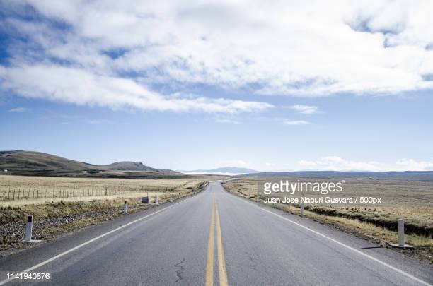 long road on highway - pasco stock photos and pictures