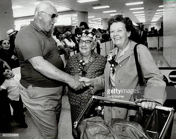 Long separation Rose Ravenscroft 84 and her daughter Beatrice Montgomery were warmly greeted at Pearson Airport last night by George Higgins the son...