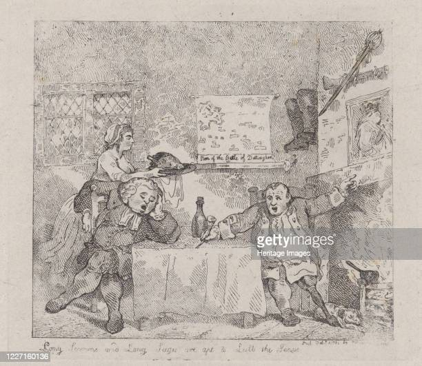 Long Sermons and Long Sieges are apt to Lull the Senses February 11 1783 Artist Thomas Rowlandson