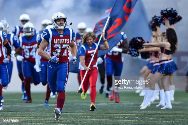 Long snapper Martin Bedard of the Montreal Alouettes takes to the field against the Ottawa Redblacks during the CFL game at Percival Molson Stadium...