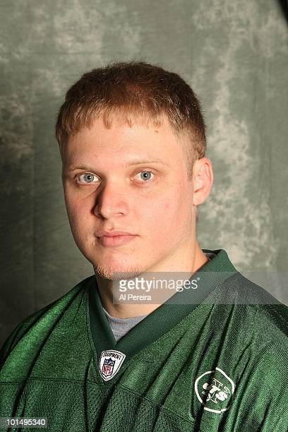 Long Snapper Tanner Purdum of the New York Jets appears in a portrait on May 20 2010 in Florham Park New Jersey