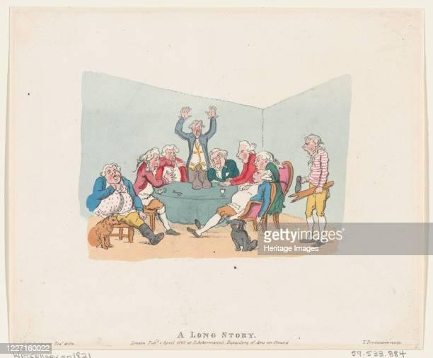 A Long Story 1803 Artist Thomas Rowlandson