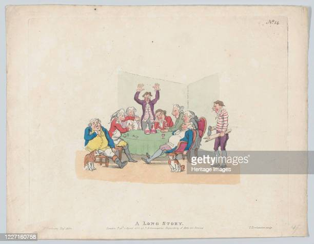 A Long Story April 1 1803 Artist Thomas Rowlandson