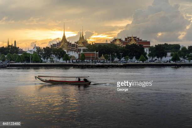 long tail boat in chao phraya river