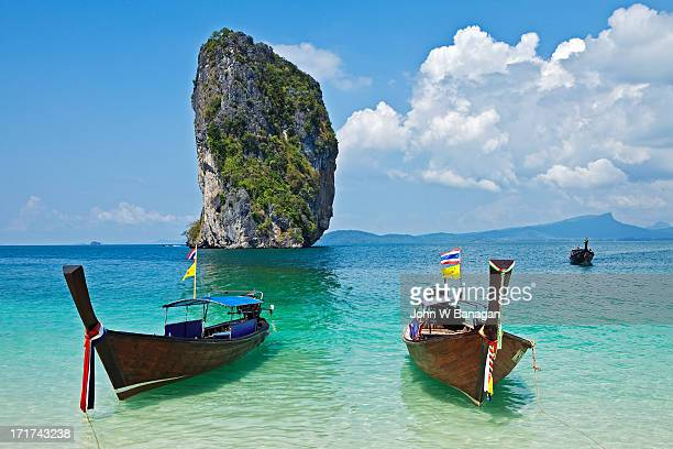 Long tail boats, Koh Poda, Krabi