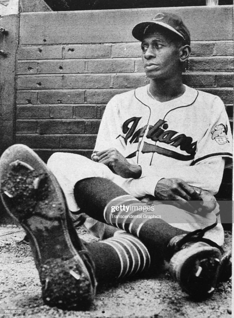 Satchel Paige in Repose Indians 1948 : News Photo