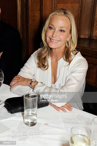 Long term friend of the brand Bo Derek attends the launch of TAG Heuer's new Aquaracer at Tramp on October 8 2013 in London England