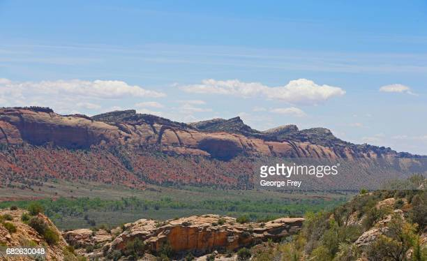 BLANDING UT MAY 12 A long wall of stone formations are shown here in the Bears Ears National Monument on May 12 2017 outside Blanding Utah The newly...