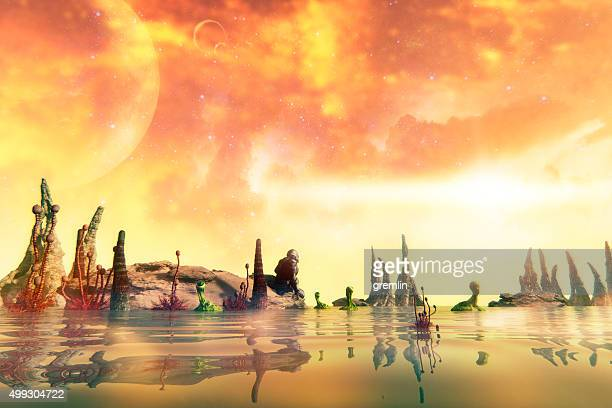 long way from home - extrasolar planet stock pictures, royalty-free photos & images