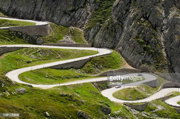 Long Winding Road Through Mountains