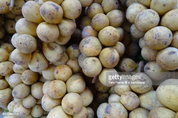Longan (also known as Dimocarpus longan) fruits in Bangkok in Thailand