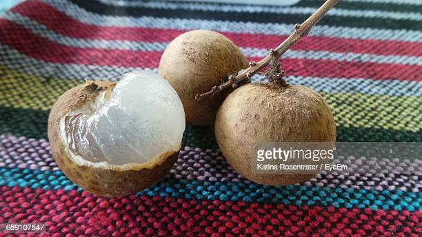 Longan Fruits On Tablecloth