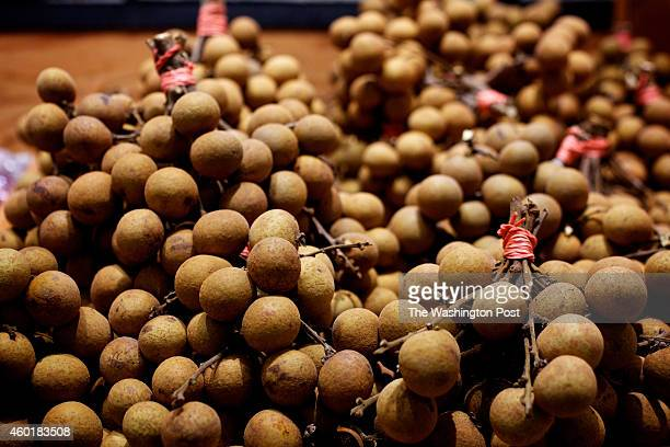 Longan in the produce section at Great Wall Supermarket