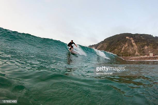 longboarder - pais vasco fotografías e imágenes de stock