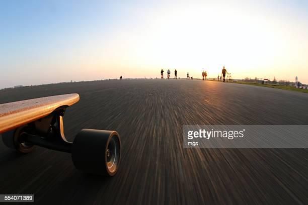 Longboarding at sunset