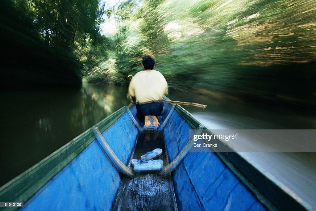 Longboat, Sarawak, Borneo : Stock Photo