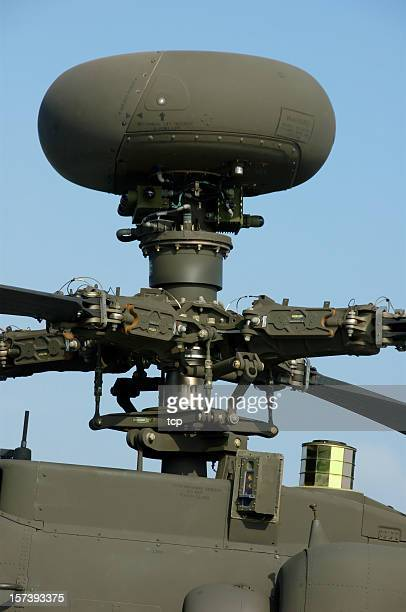 longbow radar (apache helicopter) - apache helicopter stock pictures, royalty-free photos & images