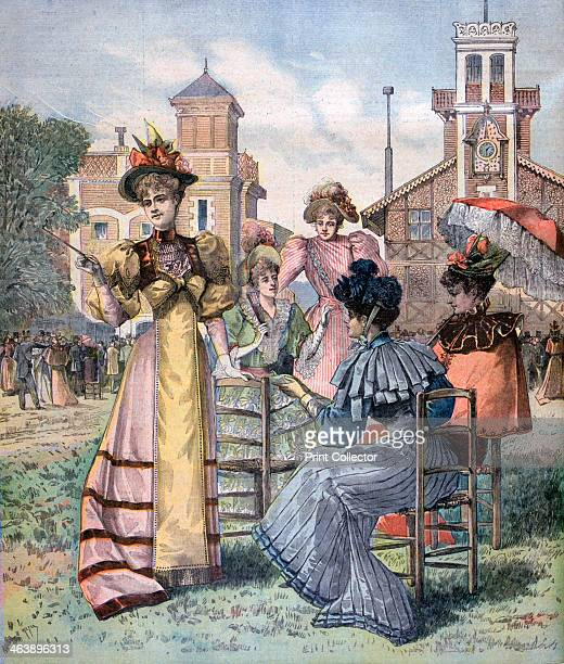 Longchamp races in spring Paris 1893 A print from the Le Petit Journal 29th April 1893
