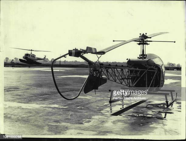 Longford Helicopter base from where Esso's fleet of Helicopters make many flights daily to the oil and gas platforms in Bass Strait August 19 1970