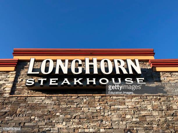 Longhorn Steakhouse exterior sign, Rego Park Mall, Queens, NY.