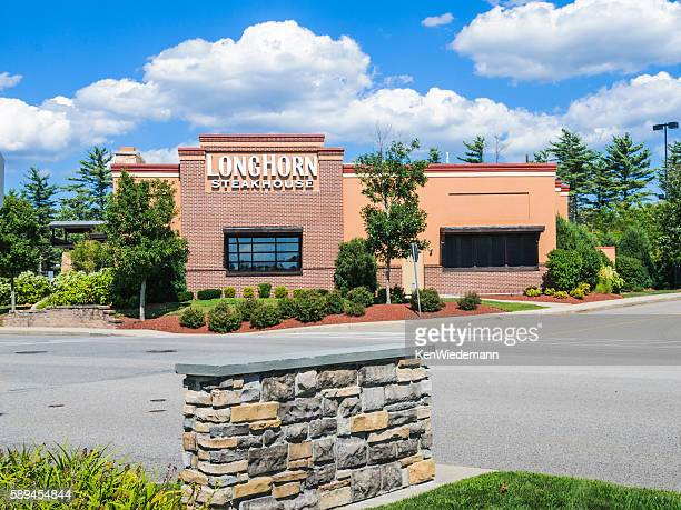 longhorn steakhouse restaurant - steakhouse stock photos and pictures