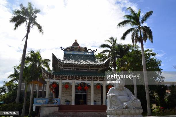 longhua temple in davao, mindanao, philippines - davao city stock photos and pictures