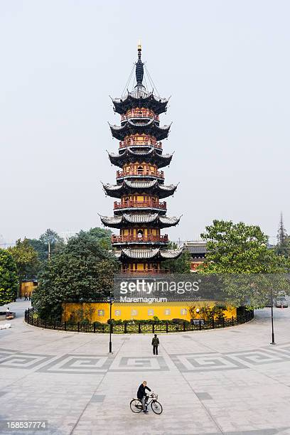 Longhua Temple, view of the Longhua Pagoda