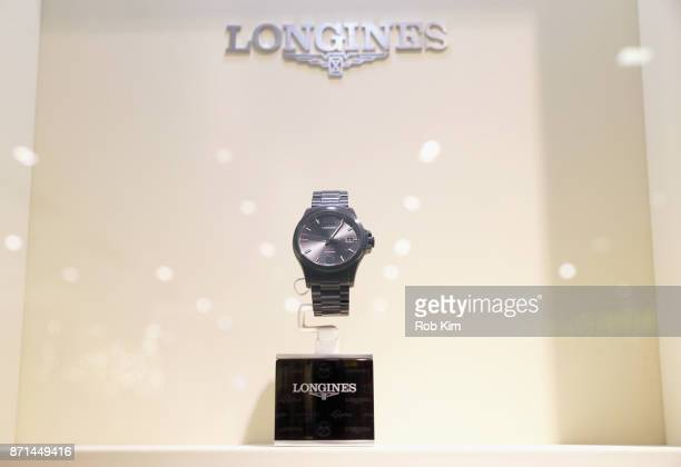 Longines celebrates the US launch of the Conquest VHP at its shopinshop inside Macys Herald Square on November 7th 2017 in New York City