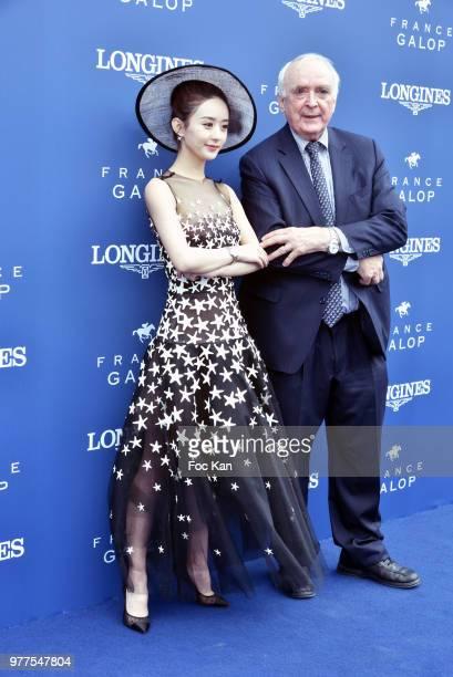 Longines CEO Walter von Kanel and Longines ambassador of Elegance Zhao Liying attend the Prix de Diane Longines 2018 at Hippodrome de Chantilly on...
