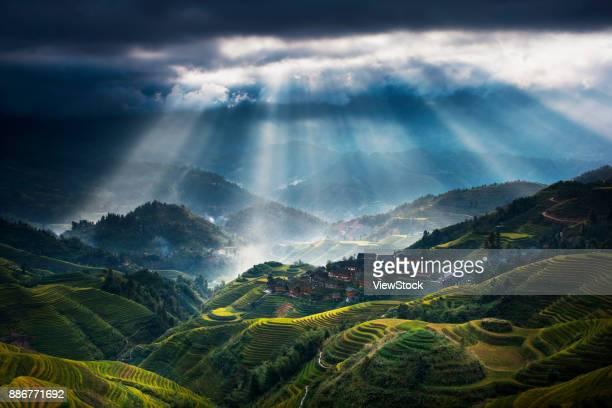 Longji rice terrace of Guilin,Guangxi,China