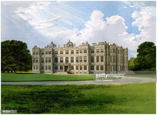 Longleat home of the Marquess of Bath Wiltshire c1880 Designed by Robert Smythson Longleat is regarded as one of the finest Elizabethan country...