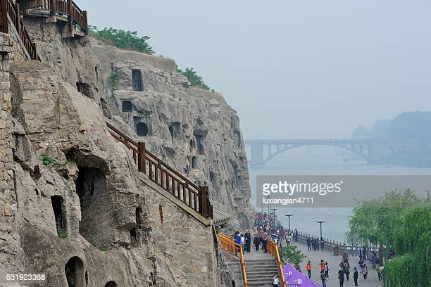 longmen grottoes in china's luoyang-outdoor scene 01 - henan province stock photos and pictures
