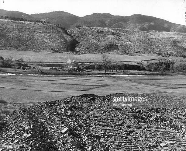 JAN 11 1958 Longmont Colorado Site Of Buckhorn Country Club Now Under Construction Near Masonville The leveled area overlooking the valley is the...