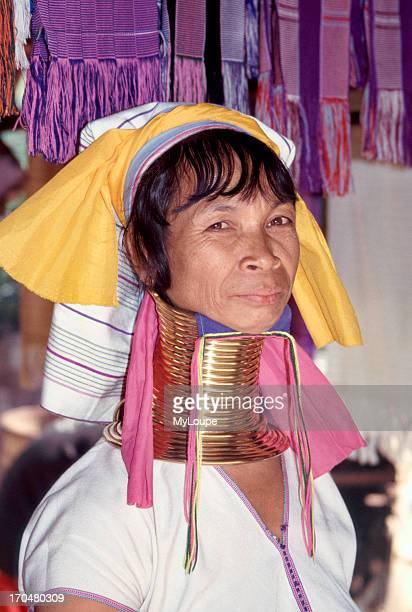 A Longneck woman The Longneck Paduang women put brass rings around their necks in the belief it makes them more beautiful distorting growth of...