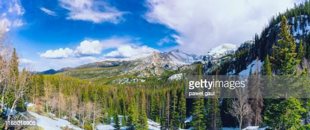 longs peak estes park, rocky mountains, colorado - front range mountain range stock pictures, royalty-free photos & images
