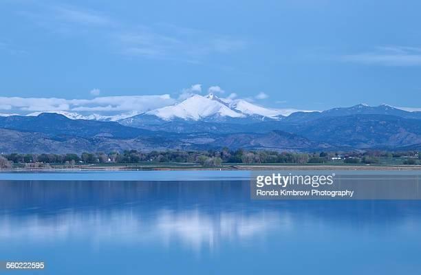 Long's Peak reflecting in a Lake