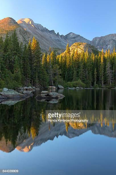 Long's Peak reflection in Bear Lake